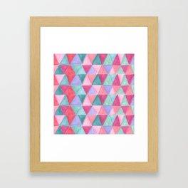 pastel triangle pattern Framed Art Print