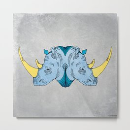 Double Trouble - Rhino Metal Print