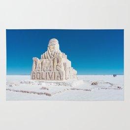 Dakar, Bolivia Monument in Salar de Uyuni, Salt Flats Rug
