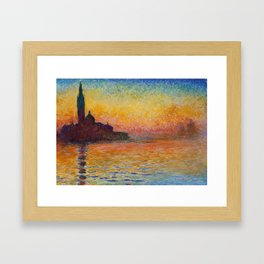 San Giorgio Maggiore by Twilight by Claude Monet Framed Art Print