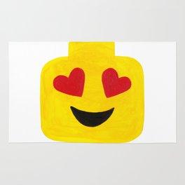 Heart Eyes - Emoji Minifigure Painting Rug