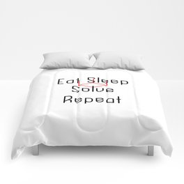 Eat Sleep Solve Cube Repeat Speed Cubing Comforters