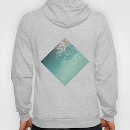 Fresh summer abstract background. Connecting dots, lens flare Hoody