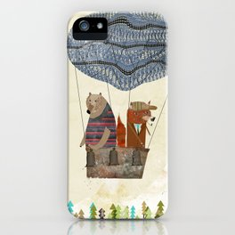 fox and bears wondrous adventure iPhone Case