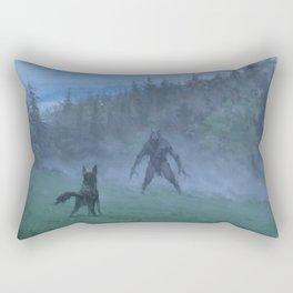 Shepherd and his faithful dog Rectangular Pillow