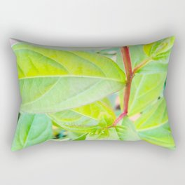 Happy Neon Green Fall Sapling Rectangular Pillow