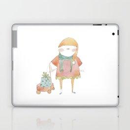 Bird Elf with a Gift Laptop & iPad Skin