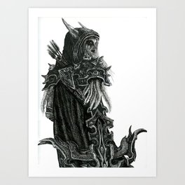 Queen of Undead Art Print
