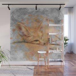Artistic Animal Fennec Fox Wall Mural