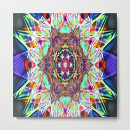 Hyper Hexahedron Metal Print
