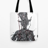 willy wonka Tote Bags featuring WOnkA by Nicholas Price