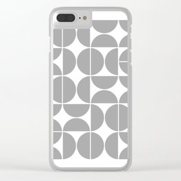 Mid Century Modern Geometric 04 Grey Clear iPhone Case