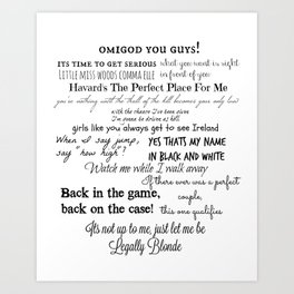 Legally Blonde Musical Quotes Art Print