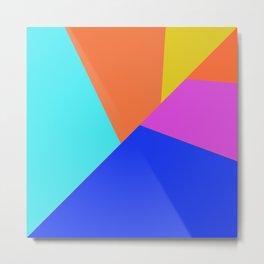Geometric color block Metal Print