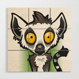 Ring-Tailed Lemur Wood Wall Art