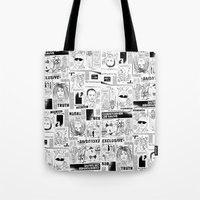scandal Tote Bags featuring Scandal Pattern by CLSNYC