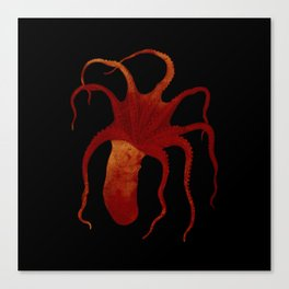 Red Octopus Canvas Print