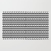 moroccan Area & Throw Rugs featuring Moroccan Stripes by Caitlin Workman