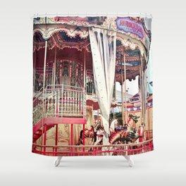 San Francisco Carousel Pier 39 Photo Print Shower Curtain