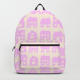 Little Scandi Houses in Pink Backpack