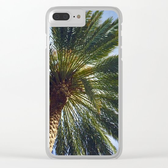 The Wonder of the Palm Tree Above Clear iPhone Case