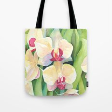 Cascading orchids Tote Bag