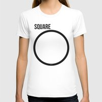 square T-shirts featuring SQUARE by try2benice