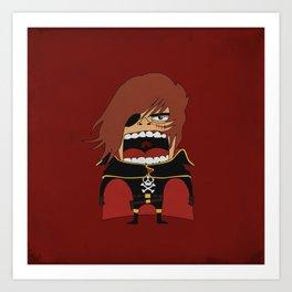 Screaming Captain Harlock Art Print
