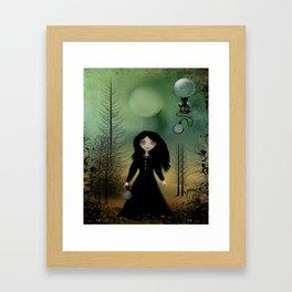 Time Flies Dark Goth Girl Steampunk Art Framed Art Print