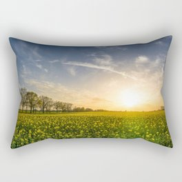 Oilseed Field Landscape Rectangular Pillow