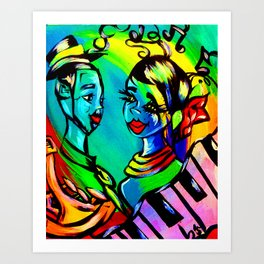 Love beyond music Art Print