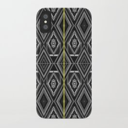 """Fade into grey with yellow' by Richard Schemmerer iPhone Case"