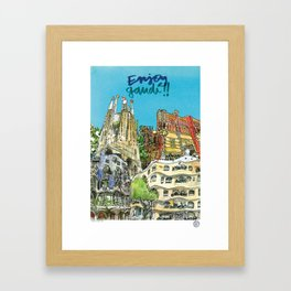 Enjoy Gaudí! Framed Art Print