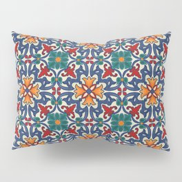 Colorful Azulejos Pattern Pillow Sham