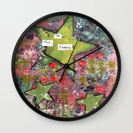 Embrace the Irony Wall Clock