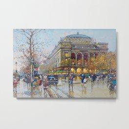 Theater du Chatelet, Paris, France by Eugene Galian Laloue Metal Print