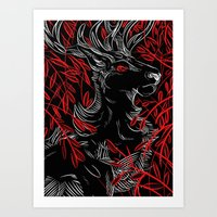 The Red King Art Print