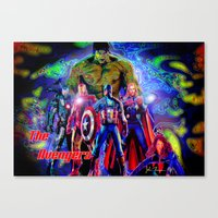 young avengers Canvas Prints featuring  A vengers by JT Digital Art
