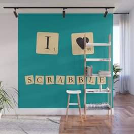 I heart Scrabble Wall Mural