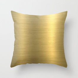 gold home decor Throw Pillow