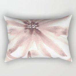 Monochromatic Flower Study Mauve Rectangular Pillow