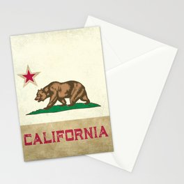 Vintage California Flag Stationery Cards