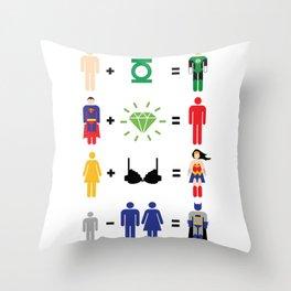 JLA Math Throw Pillow