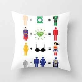 JLA Math Throw Pillow