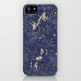Royal Orchid Gold Marble Mine iPhone Case