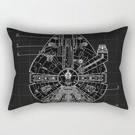 Millennium Falcon Blueprint Rectangular Pillow