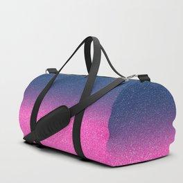 Trendy Metallic Royal Blue Hot Pink Glitter Gradient Duffle Bag