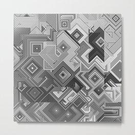 Gray Tie Metal Print