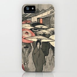 Emil Orlik - Rainy Day in Kyoto iPhone Case