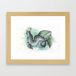 Sepentia lophiiformia (clean version) Framed Art Print